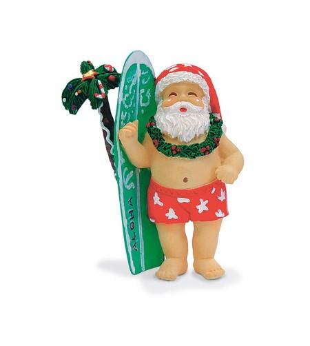Déco Noel Surfboard Santa 6.5*6.5 UNIQUEMENT SUR COMMANDE LIVRAISON DEBUT DECEMBRE