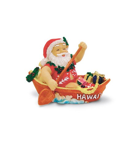 Déco Noel Canoeing Santa 6.5*6.5 UNIQUEMENT SUR COMMANDE LIVRAISON DEBUT DECEMBRE