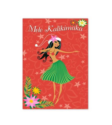 Déco Noel Boite 12 Cartes Postales Mele K Hula Wahine 11*15 UNIQUEMENT SUR COMMANDE LIVRAISON DEBUT DECEMBRE