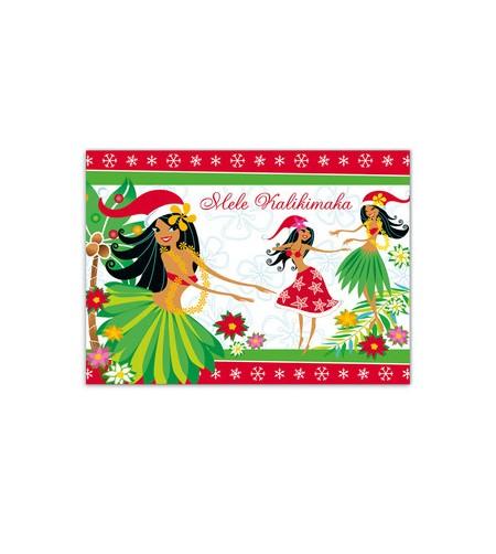 Déco Noel Boite 12 Cartes Postales Island Hula Honeys UNIQUEMENT SUR COMMANDE LIVRAISON DEBUT DECEMBRE