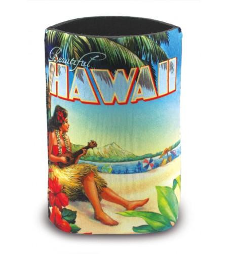 Island Can Cooler Vintage Hawaii Neopréne Pour Garder Vos Boissons Fraiches