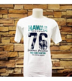 Tee Shirt Hawaii Paradise 100% Coton Très Bonne Qualité Taille XL