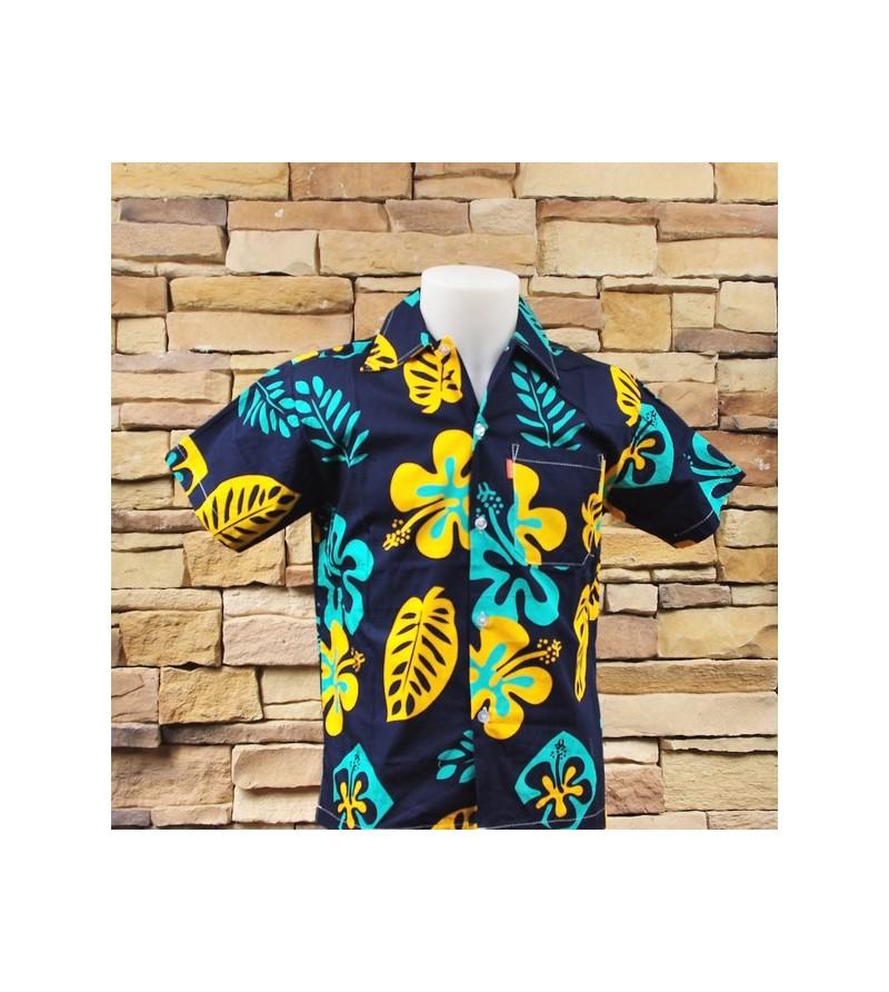 Chemise Hawaii Hibiscus Feuilles