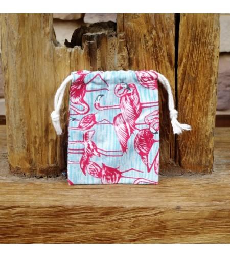 Pochette Flamingo Coton Rigide 12.5 x 9.5 cm