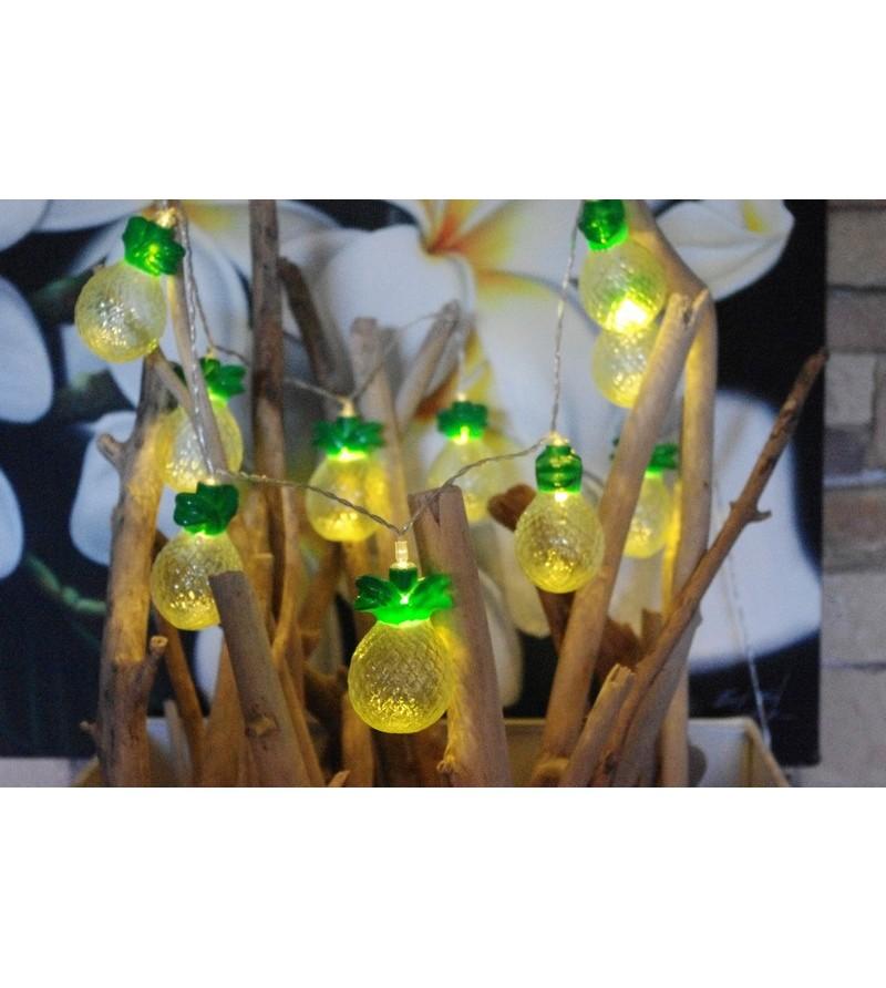 Guirlande Led Ananas 10 pcs Alimentation Piles Non Incluses