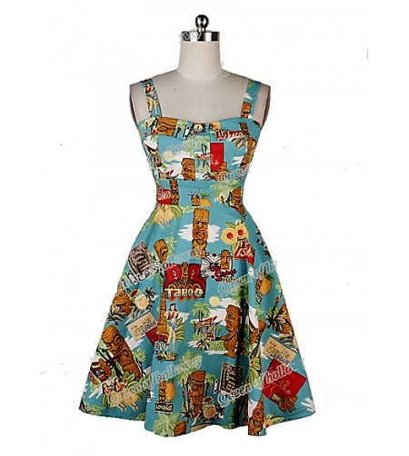 Robe Pin Up Tiki Vintage Taille M