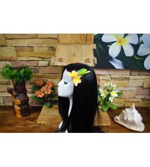 Poara Pince Fleurs Frangipanier Orange Rose 10.5x9cm