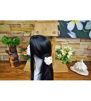 Pince Croco Fleurs Gardenia 7cm