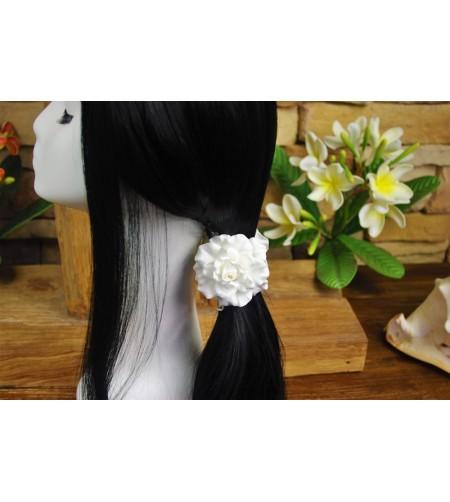 Pince Croco Fleurs Gardenia 9cm