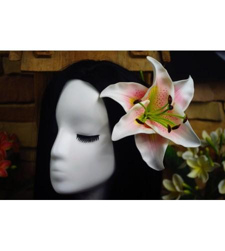 Fleur D'oreille Lys Rose 17.5cm