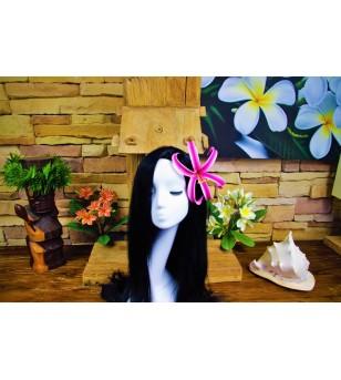 Fleurs d'oreille Spider Lily Rose Blanche 15 cm