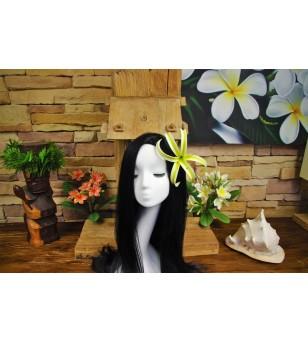 Fleurs d'oreille Spider Lily Jaune Blanche 15 cm