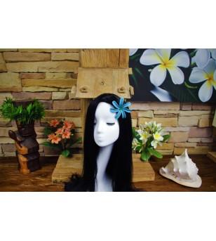 Fleurs d'oreille Tiaré Tatoo Verte Blanche 8.9cm