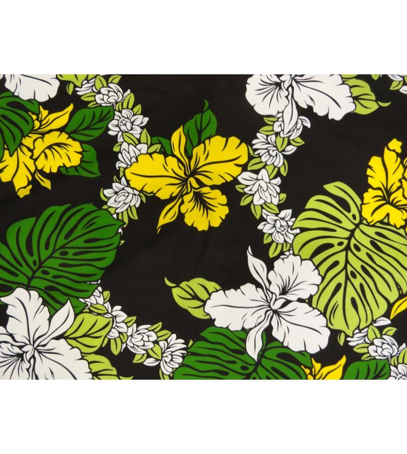 tissu au m tre 65 polyester 35 cotton largeur 110 cm esprit des iles. Black Bedroom Furniture Sets. Home Design Ideas