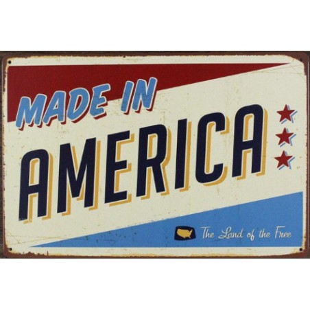 Plaque Métal Vintage Made in America 30*20