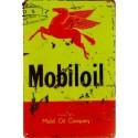 Plaque Métal Vintage Mobil Oil 30*20