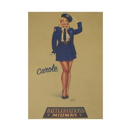 Affiche Poster Carole Papier Kraft Format A3 42*30