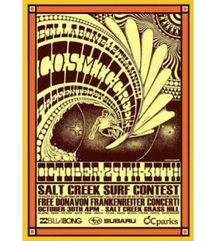 Affiche Poster Cosmic Creek Surfing Papier Kraft Format A3 42*30