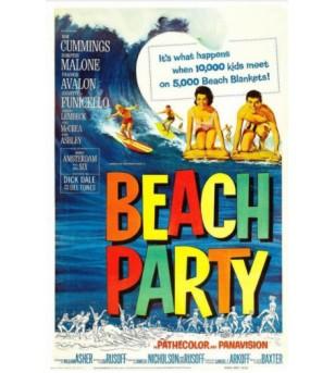 Affiche Poster Beach Party Papier Kraft Format A3 42*30