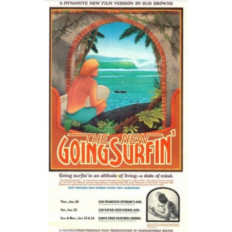 Affiche Poster The New Going Surfing Papier Kraft Format A3 42*30