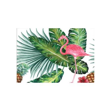 Nappe Tenture Murale Flamingo Jungle Imprimé Polyester 150*130