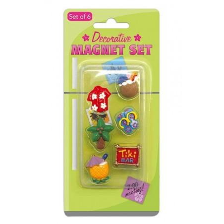 Set 6 Mini Magnet Plastique