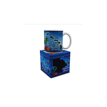 Mug Island Treasures Hawaiian Map Céramique