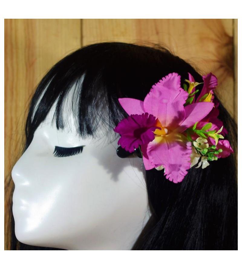 Composition Florale Orchidées Purple  12 cm