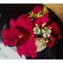 Composition Florale Orchidées Fushia  12 cm