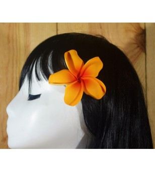 Pince Fleur Frangipanier Orange 9cm