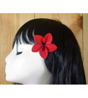 Pince Fleur Frangipanier Rouge 5cm