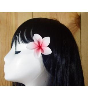 Pince Fleur Frangipanier Blanche Rose 5cm