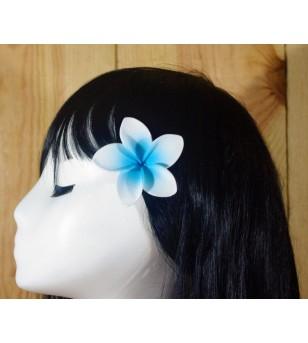 Pince Fleur Frangipanier Blanche Bleu 5cm
