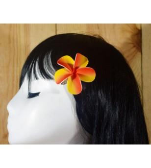 Pince Fleur Frangipanier Orange Jaune 6.4cm