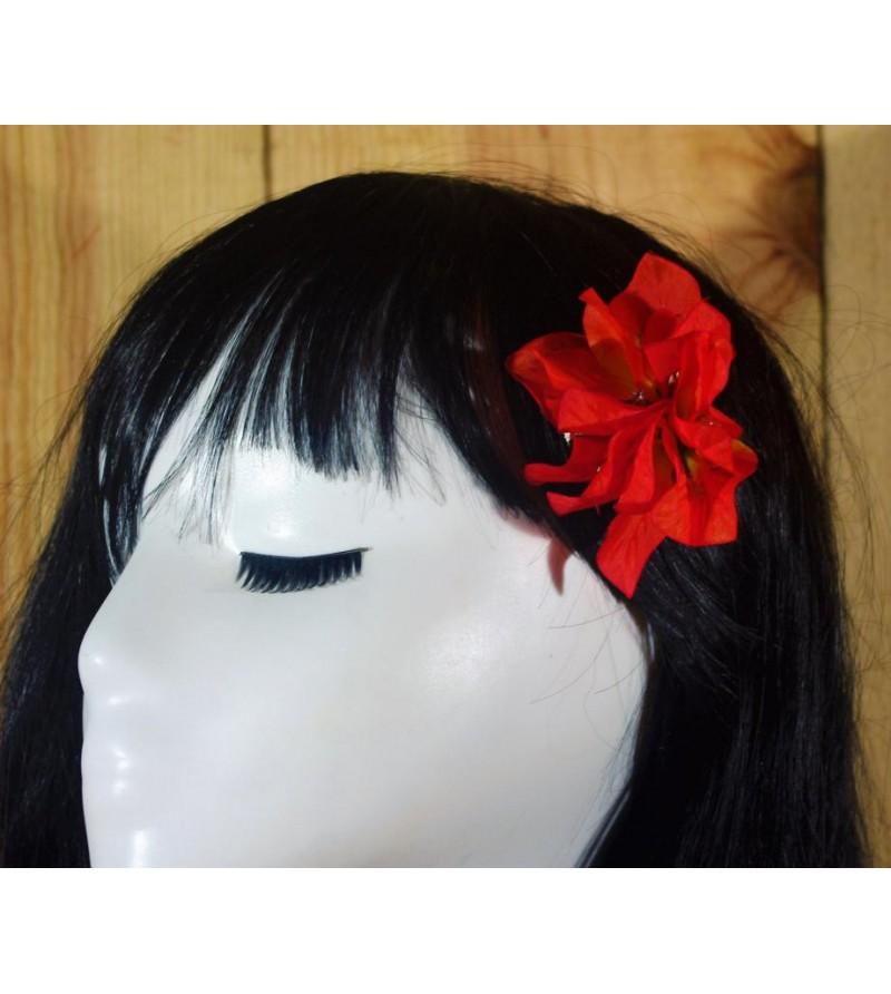 Fleur D'oreille Bougainvilliers Rouge 6cm