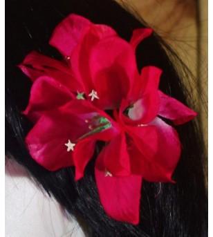 Fleur D'oreille Bougainvilliers Fushia 6cm