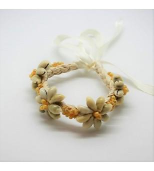 Bracelet Coquillages Raphia 20cm