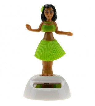 Miniature Dashboard Doll Solaire Verte Plastique - 10X4.5