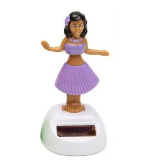 Miniature Dashboard Doll Solaire Violette Plastique - 10X4.5