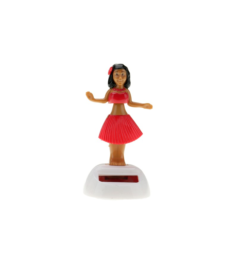 Miniature Dashboard Doll Solaire Orange Plastique - 10X4.5