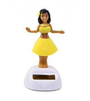 Miniature Dashboard Doll Solaire Jaune Plastique - 10X4.5