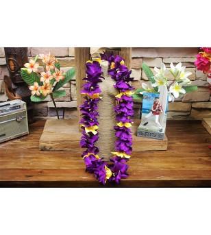 Colliers Fleurs Luxe Violet Jaune