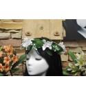 Couronne Fleurs Orchidée Taille 20cm