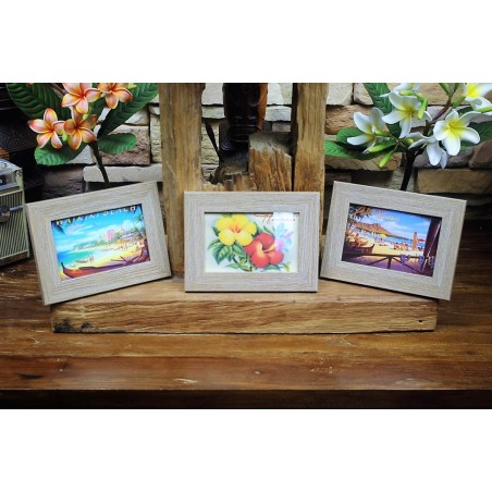 Set 3 Cadres Photos hawaii Taille 20x15x1.5cm