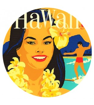 Magnet Décapsuleur Hula Hawaii Surfing