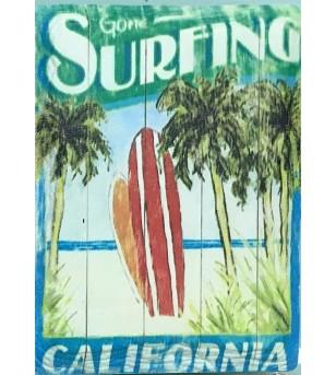 Magnet Surfing California Grès Céramique Taille 6x8cm