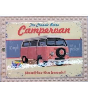Magnet Combi Campervan Grès Céramique Taille 6x8cm