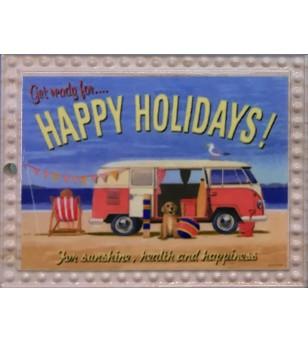 Magnet Combi Happy HolidaysGrès Céramique Taille 6x8cm