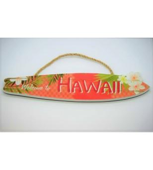 Plaque déco Surf Hawaii Matiére Mdf Taille 38x8x0.8cm
