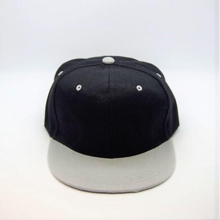 Casquette  Snapback Noire Visière grise